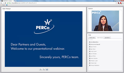 Webinaire international PERCo