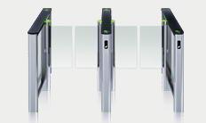 Couloir de contrôle d'accès ST-01 avec les vantaux standards (deux passages)